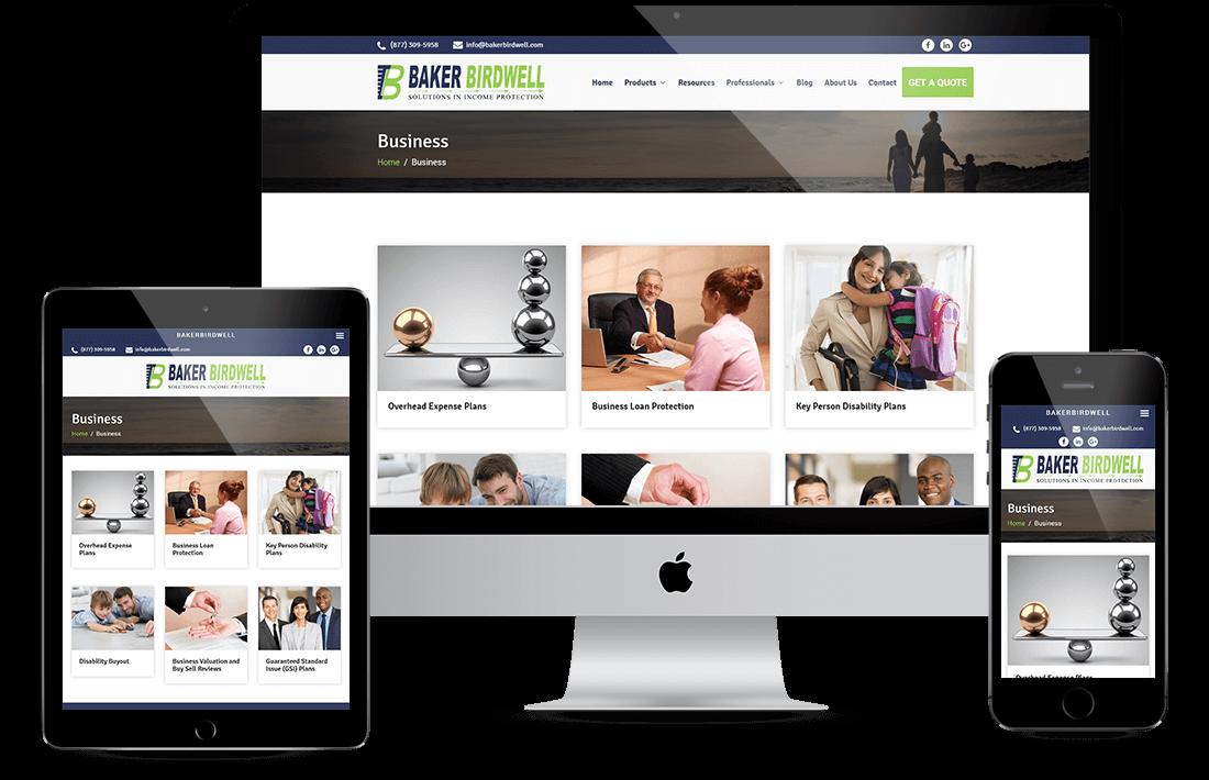 Baker Birdwell website design by Equity Web Solutions