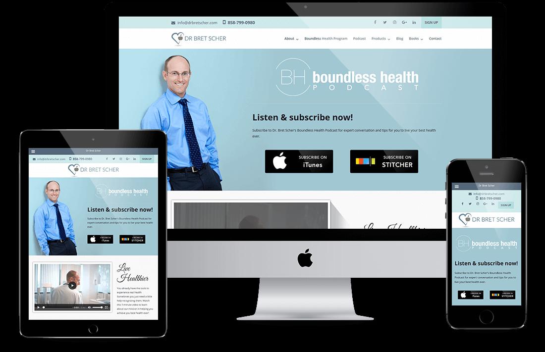 Dr. Bret Scher website design by Equity Web Solutions