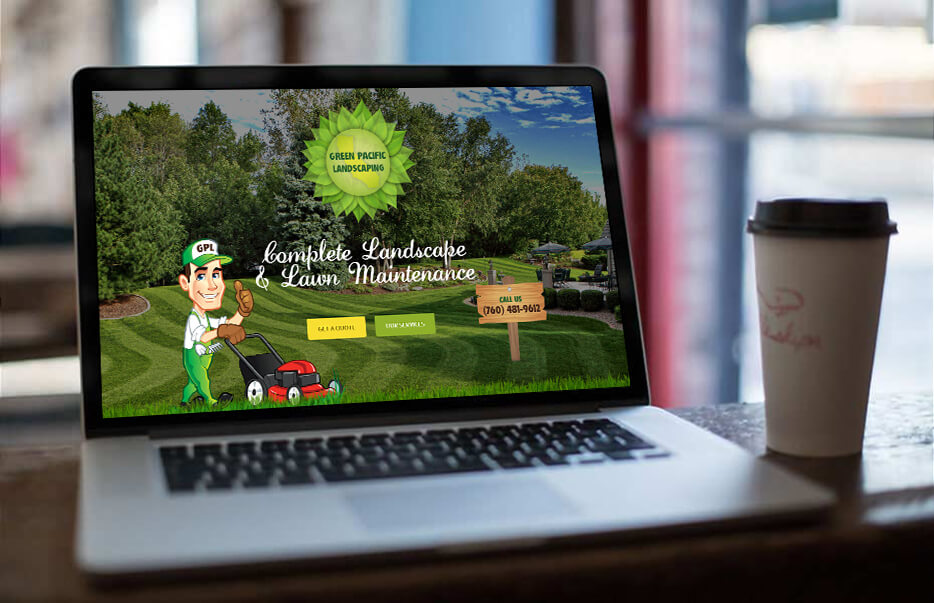 Website Design by Equity Web Solutions - Green Pacific Landscaping