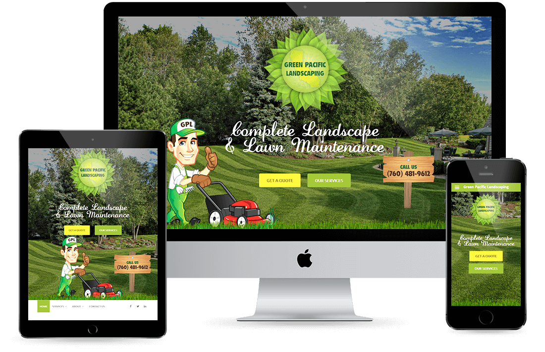 Green Pacific Landscaping design by Equity Web Solutions