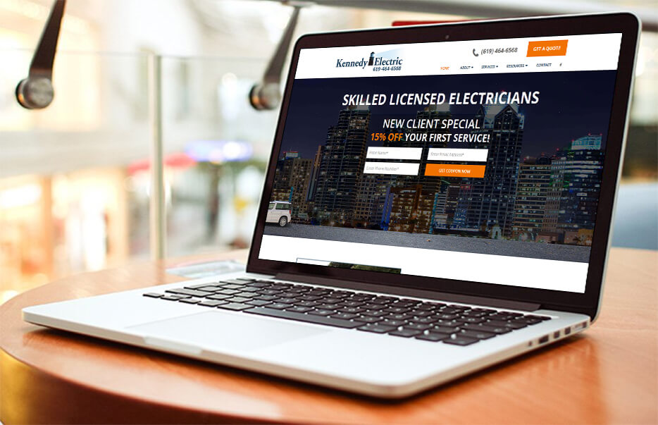 Website Design by Equity Web Solutions - Tom Kennedy Electric
