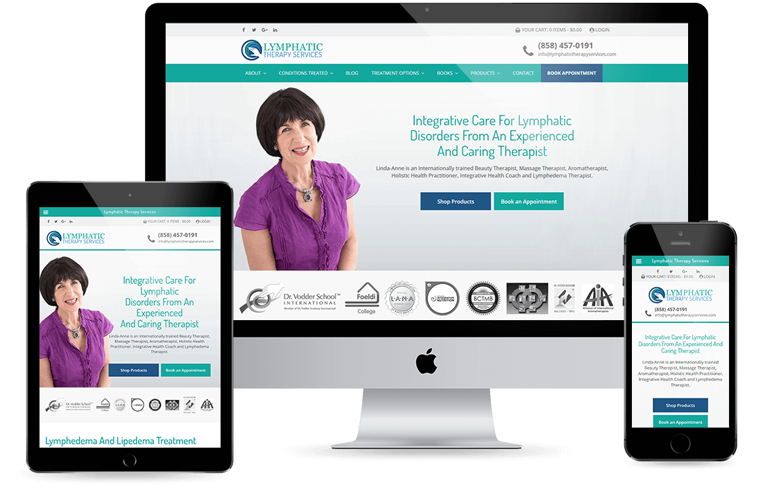 Lymphatic Therapy Services Portfolio design by Equity Web Solutions