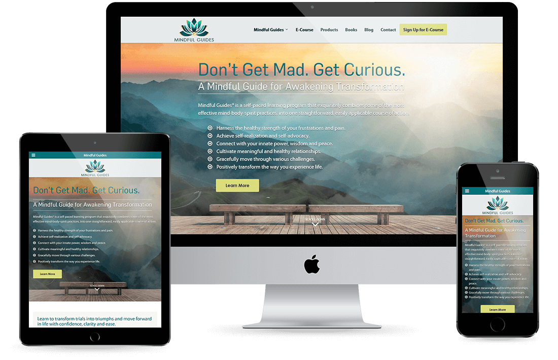 Mindful Guides Portfolio design by Equity Web Solutions