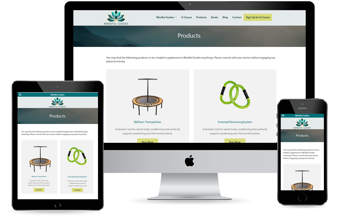 Mindful Guides Product Page design by Equity Web Solutions