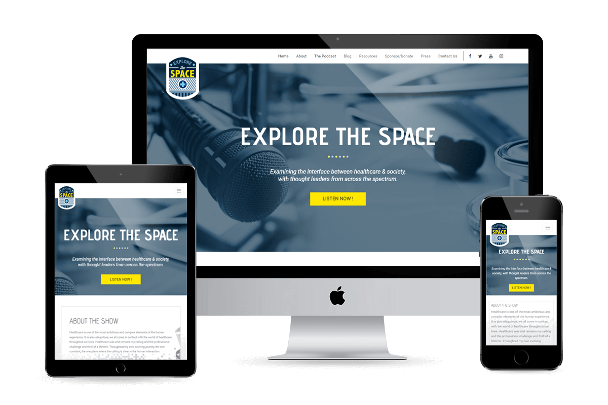 Explore The Space website design by Equity Web Solutions